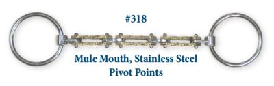 B318 Brad. Mule Stainless Steel Pivot Points