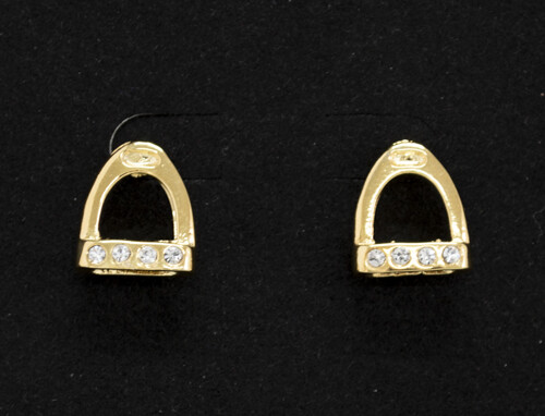Stirrup Earrings w/ Crystals