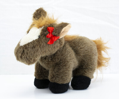 Brown Toy Horse w/ Bow