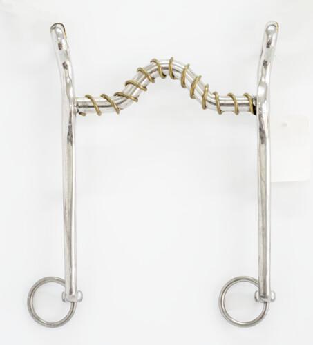 B518 Medium Port, w/ Loose Brass Wire Wrapped