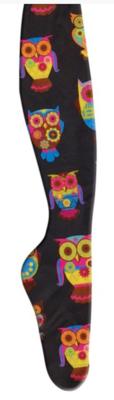 Ovation Zocks Boot Socks - Black Owls