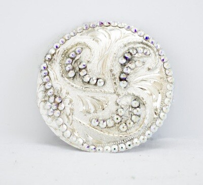 Dale Chavez Show Pad Crystal Embellished Silver