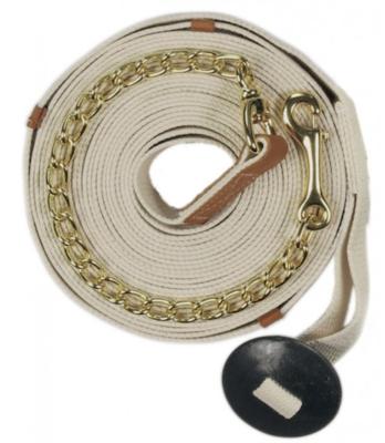 """Centaur Cotton Web Lunge Line 35' w/ 20"""" Brass Chain"""