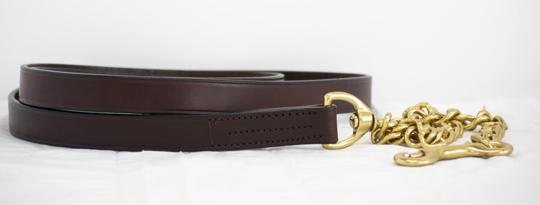 "Blue Ribbon Leather Lead Shank (30"")"