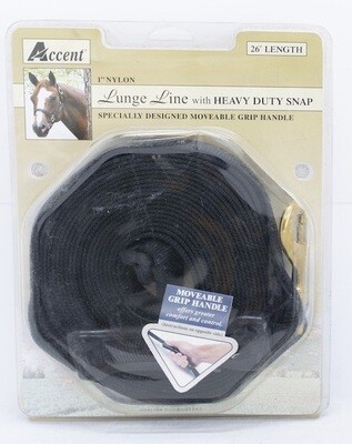 Accent 26' Nylon Lunge Line w/ Snap