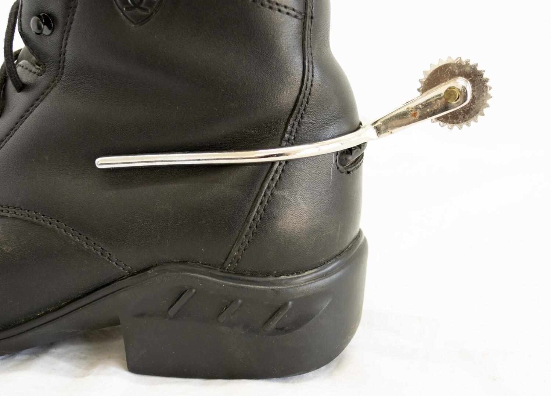 Short Tooth Large Rowel Slip On Spurs