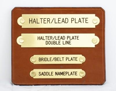 Brass Halter Name Plate