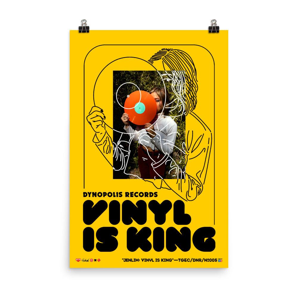 JENLIM: VINYL IS KING - PREMIUM PRINT TG&C/DNR-005