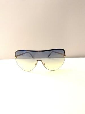 Oversized Colorful Flat Top Women Sunglasses - Green
