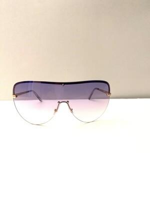Oversized Colorful Flat Top Women Sunglasses- Purple