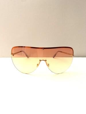 Oversized Colorful Flat Top Women Sunglasses - Orange