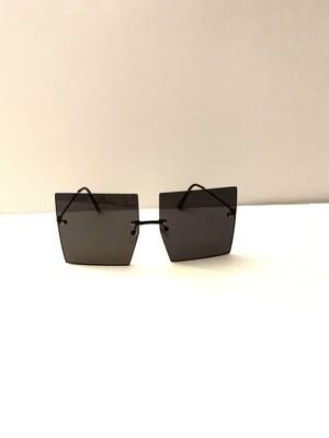 Square Oversized Women Sunglasses - Black