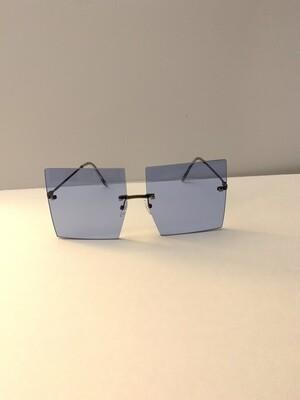 Square Oversized Women Sunglasses - Blue