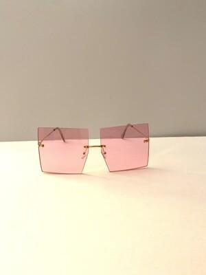 Square Oversized Women Sunglasses - Pink