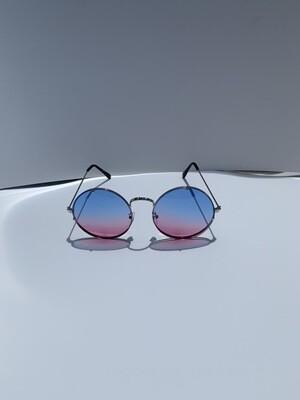 Colorful Oversized Women Sunglasses - Blue/Pink