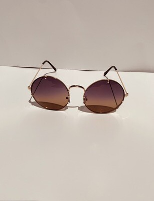 Colorful Oversized Women Sunglasses - Brown