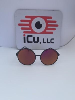Round Oversized Women Sunglasses - Purple