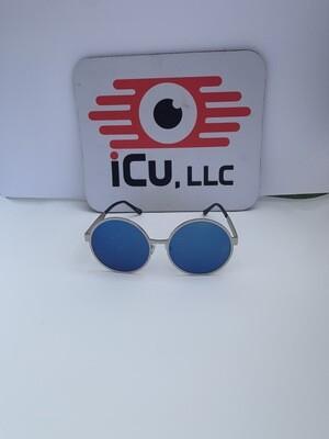 Round Oversized Women Sunglasses - Blue