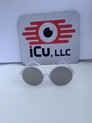 Round Oversized Women Sunglasses - White