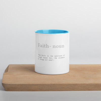Faith Verse Accent Tea Coffee Mug Cup 11oz