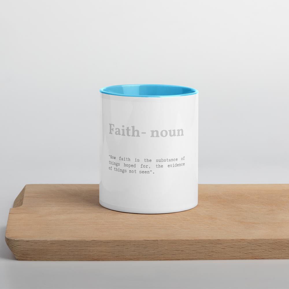 Faith Verse Accent Tea Coffee Mug Cup 11oz