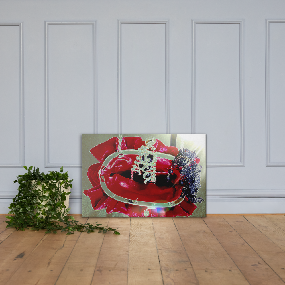 """Red Velvet Bag of Jewels"" Luxury Colour Photography Print"