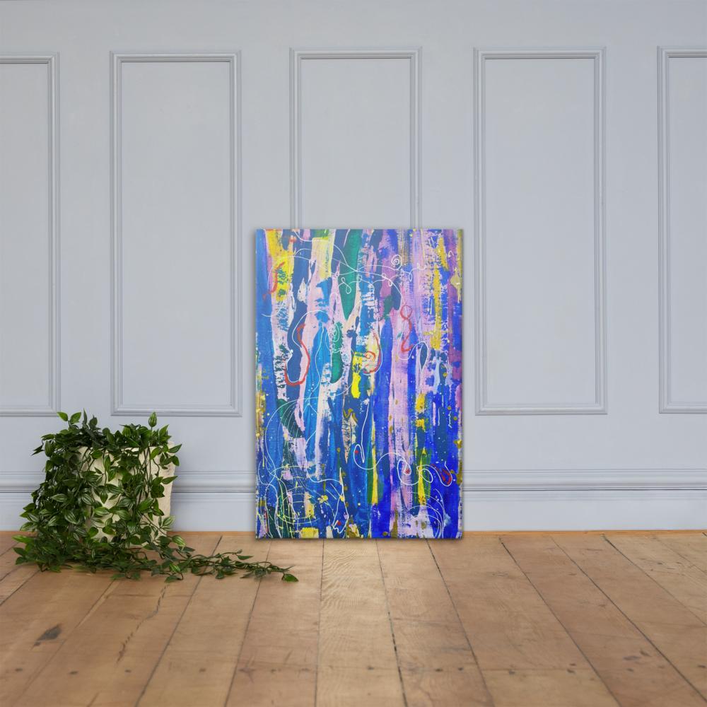 """Graffiti Street"" Mixed Media Abstract Canvas Print"