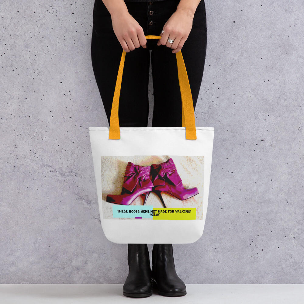 "Tote  ""Pink Purple Plum Red Heels"" Quirky Fashion Printed Tote Bag"