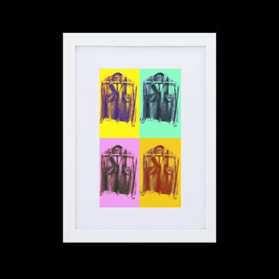 """""""Polka Dot Blouse"""" Colour Pop Art Print Framed Poster"""