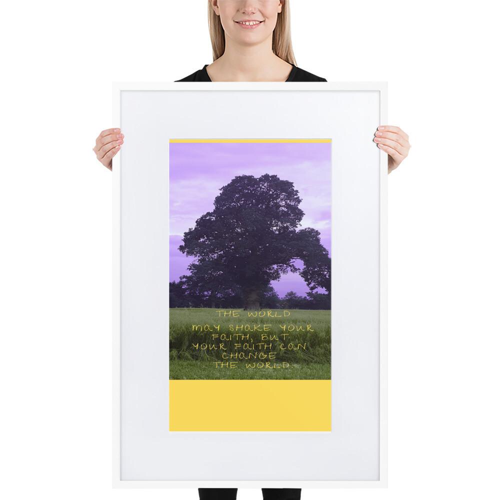 """""""Faith & Country Purple Sky"""" Faith Inspired Framed Poster"""