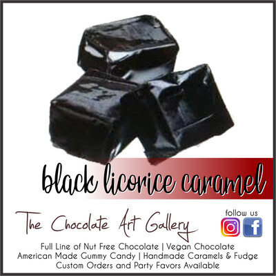 Black Licorice Caramels (1 lb)