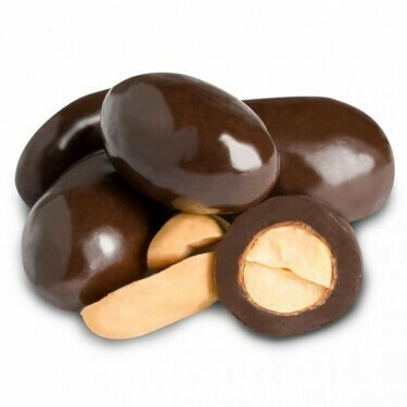 Dark Chocolate Covered Peanuts (8 oz)