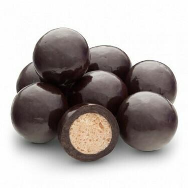 Malted Milk Balls in Dark Chocolate (8 oz)