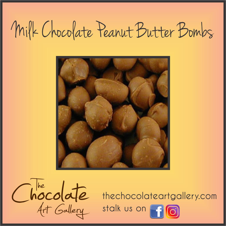 Milk Chocolate Peanut Butter Bombs (8 oz)
