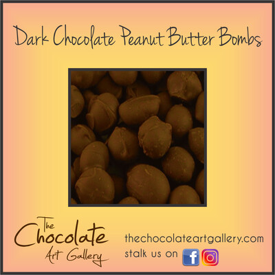 Dark Chocolate Peanut Butter Bombs (8 oz)