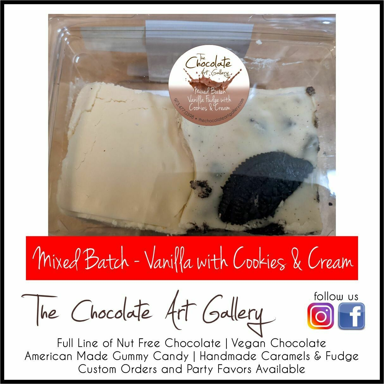 Mixed Batch - Vanilla Fudge with Cookies & Cream (8 oz)