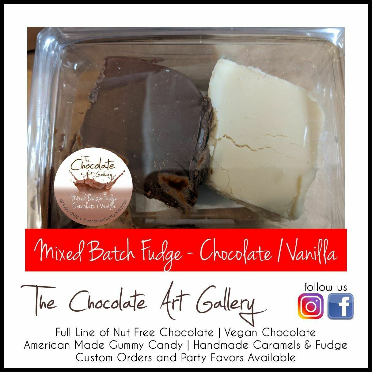 Mixed Batch Fudge - Chocolate and Vanilla (8 oz)