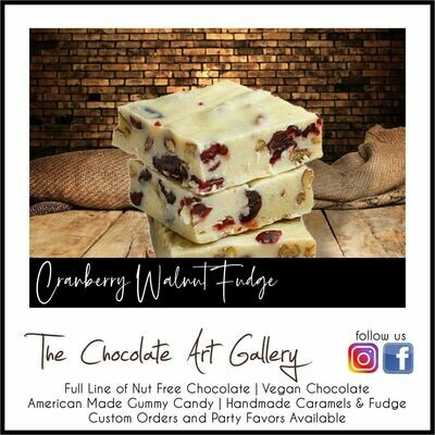 Cranberry Walnut Fudge (12 oz)