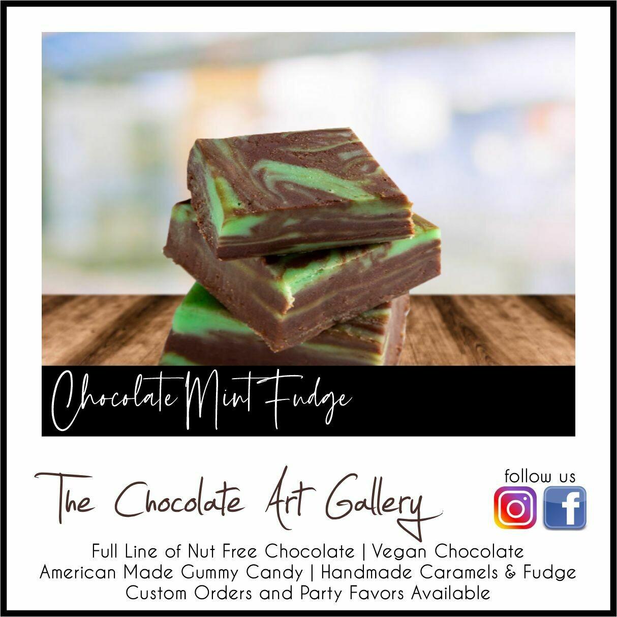 Chocolate Mint Fudge (12 oz)