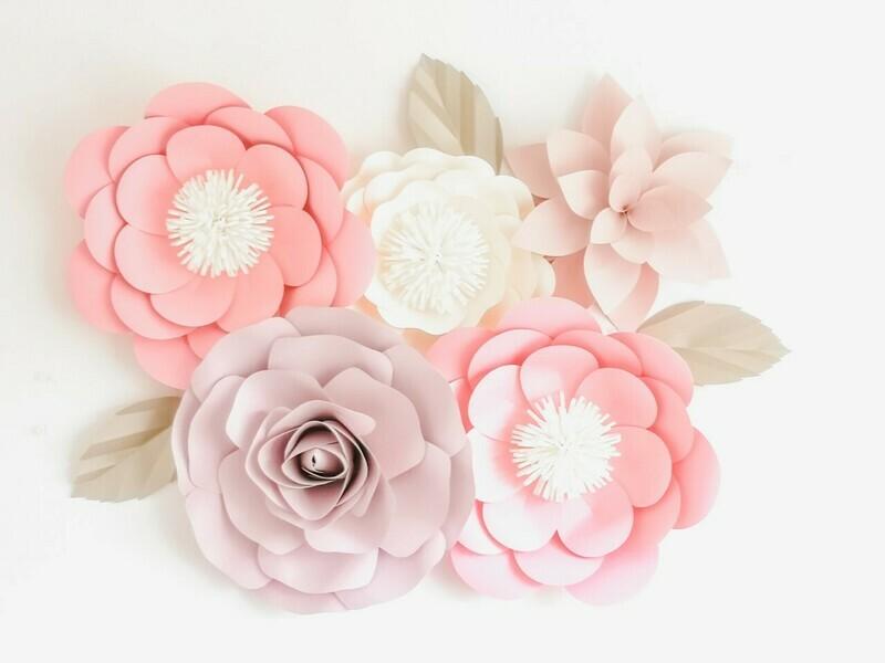 Sabrina- Giant Paper Flowers- Nursery Wall Flowers- Nursery Wall Art -Paper Flower Décor- Elegant Nursery Wall Art