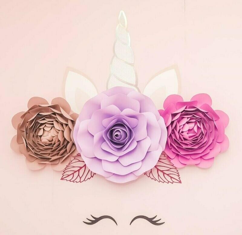 Marni- Unicorn Bedroom Decor- Unicorn Flower Crown Wall Art- Unicorn Wall Art- Unicorn Flowers