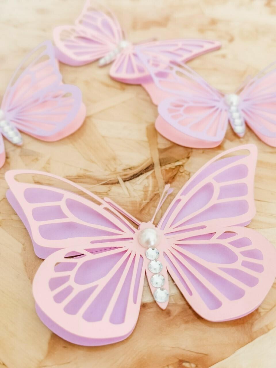 Butterflies- Paper Butterflies- 3D Wall Art - Layered Buterfly Wall Art