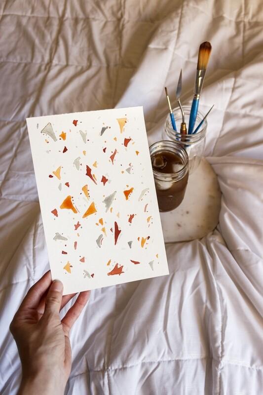 Triangle Terrazzo Watercolor