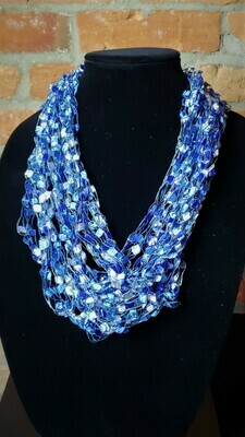 Ocean Ladder Yarn Necklace
