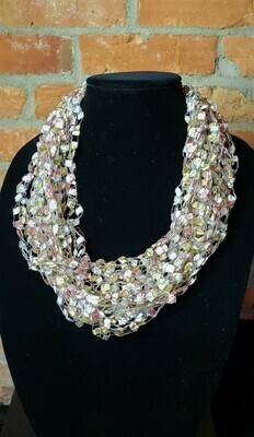 Fresh Water Pearl Ladder Yarn Necklace