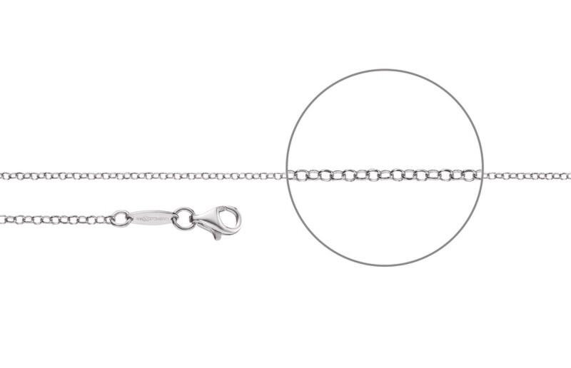 Erbskette diamantiert Silber 925
