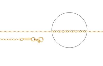 Erbskette diamantiert vergoldet