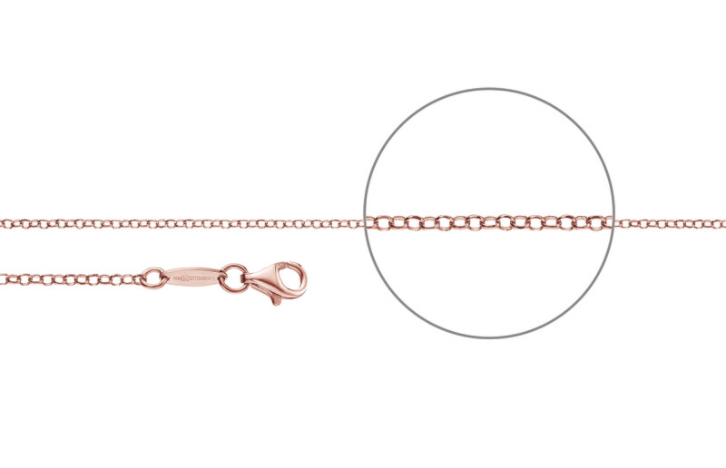 Erbskette diamantiert rosé vergoldet