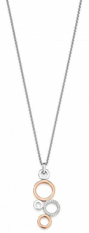 Halskette Silber 925 mit Anhänger Bicolor
