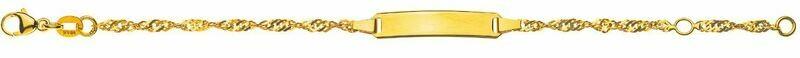 Bébé Bracelet Singapur Gelbgold 750